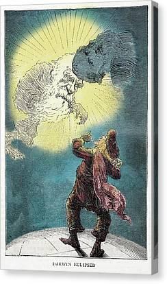 1871 Charles Darwin Monkey Versus Kelvin Canvas Print
