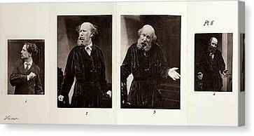 1872 Darwin Emotions Indignant Heliotype Canvas Print by Paul D Stewart