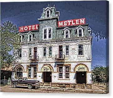 1875 Metlen Railroad Hotel - Dillon Montana Canvas Print by Daniel Hagerman