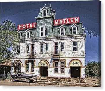 1875 Metlen Railroad Hotel - Dillon Montana Canvas Print