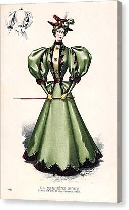 1876 Fashion Model Canvas Print by Underwood Archives