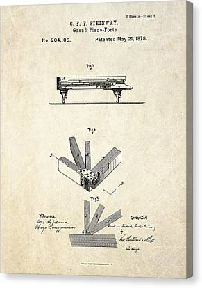 1878 Steinway Grand Piano Forte Patent Art S.2 Canvas Print