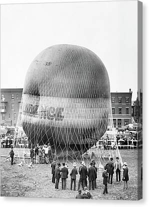 1880s Canvas Print - 1880s Balloon Independence Preparing by Vintage Images