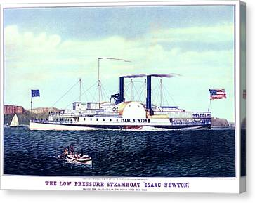 1880s Canvas Print - 1880s The Low Pressure Steamboat Isaac by Vintage Images