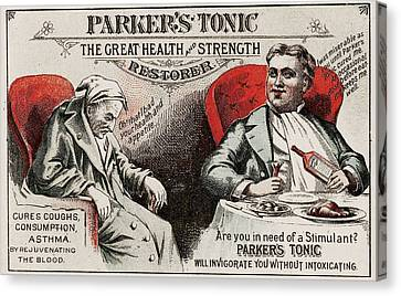 1880s Usa Parkers Tonic Magazine Advert Canvas Print by The Advertising Archives