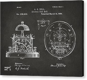 Innovator Canvas Print - 1881 Alexander Graham Bell Electric Call Bell Patent Gray by Nikki Marie Smith