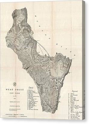1883 West Point Map Canvas Print by Dan Sproul