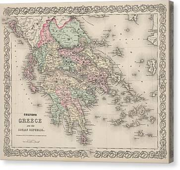 1885 - Greece's New Borders Canvas Print