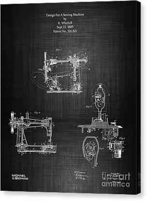 1885 Singer Sewing Machine Canvas Print
