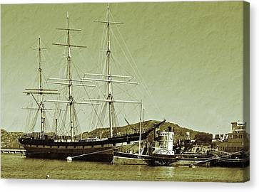 1886 Balclutha Canvas Print by Holly Blunkall