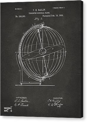 Constellation Canvas Print - 1886 Terrestro Sidereal Globe Patent 2 Artwork - Gray by Nikki Marie Smith