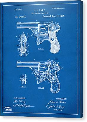 Howe Canvas Print - 1887 Howe Revolver Patent Artwork - Blueprint by Nikki Marie Smith