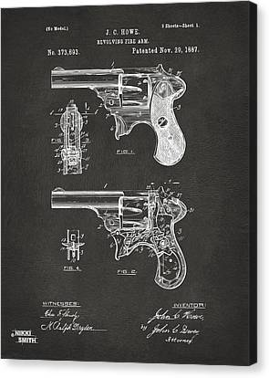 Howe Canvas Print - 1887 Howe Revolver Patent Artwork - Gray by Nikki Marie Smith