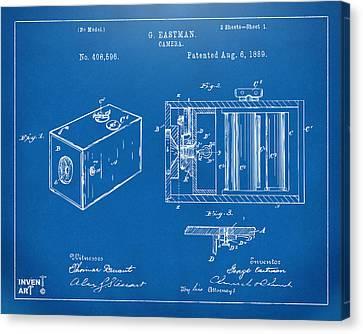 Innovator Canvas Print - 1889 George Eastman Camera Patent Blueprint by Nikki Marie Smith