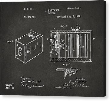Innovator Canvas Print - 1889 George Eastman Camera Patent Gray by Nikki Marie Smith