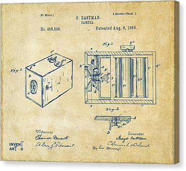 Innovator Canvas Print - 1889 George Eastman Camera Patent Vintage by Nikki Marie Smith