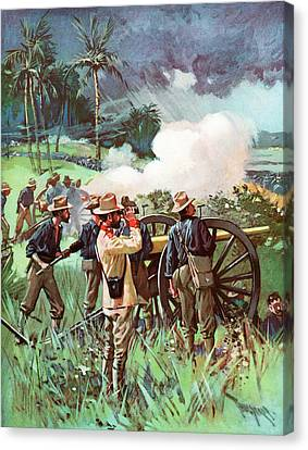 Artillery Canvas Print - 1890s 1898 Us Army Field Artillery by Vintage Images