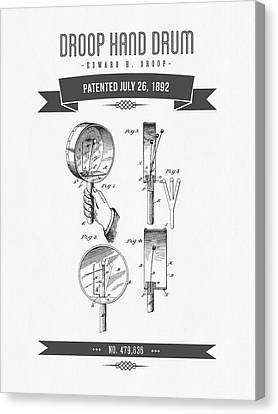 1892 Droop Hand Drum Patent Drawing Canvas Print by Aged Pixel