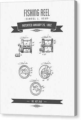 1892 Fishing Reel Patent Drawing Canvas Print by Aged Pixel