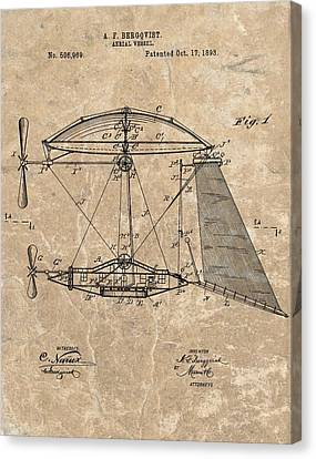 1893 Aerial Vessel Patent Canvas Print by Dan Sproul