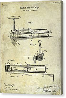 1893 Cigar Makers Gage Patent Drawing  Canvas Print