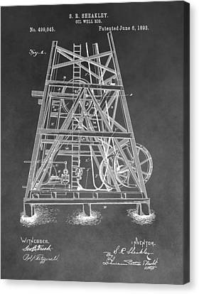 1893 Oil Rig Patent Canvas Print