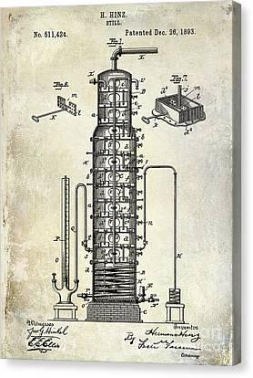 1893 Still Patent Drawing Canvas Print by Jon Neidert