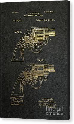 1894 Wesson Revolver Lock Mechanism Patent Art 2 Canvas Print by Nishanth Gopinathan