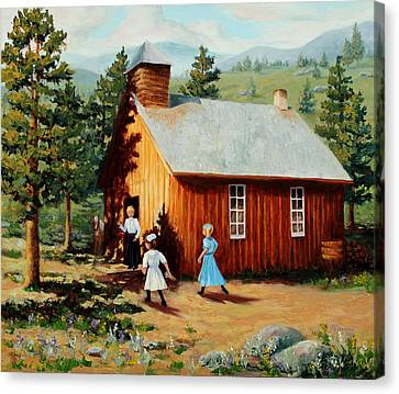 High Park Fire Canvas Print - 1896 School House by Mary Giacomini