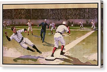 1898 Baseball -  American Pastime  Canvas Print by Daniel Hagerman