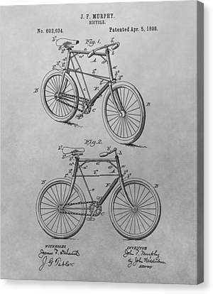 1898 Bicycle Patent Drawing Canvas Print