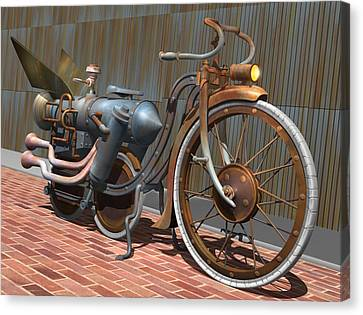 1899 Inline Steam Trike Canvas Print by Stuart Swartz