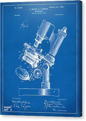 1899 Microscope Patent Blueprint Canvas Print