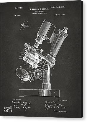 1899 Microscope Patent Gray Canvas Print