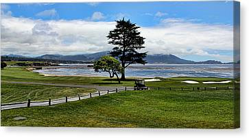 18th At Pebble Beach Panorama Canvas Print