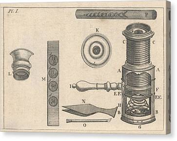 18th Century Microscope, Artwork Canvas Print by Science Photo Library