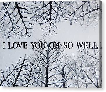 Dmb Canvas Print - 18x24 I Love You Oh So Well by Michelle Eshleman