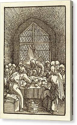 Last Supper Canvas Print - Albrecht Altdorfer German, 1480 Or Before - 1538 by Quint Lox