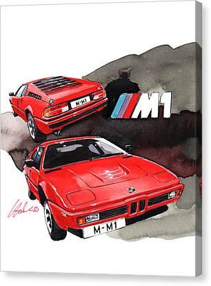 Bmw M1 Canvas Print by Yoshiharu Miyakawa