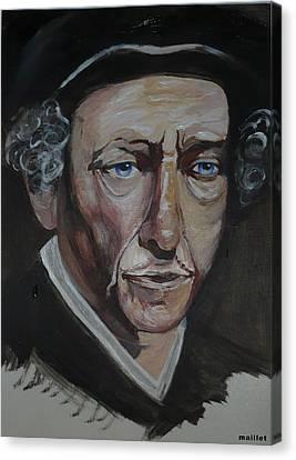 Bob Dylan Canvas Print by Laurette Maillet