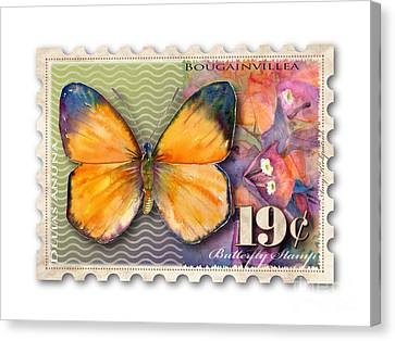 19 Cent Butterfly Stamp Canvas Print by Amy Kirkpatrick