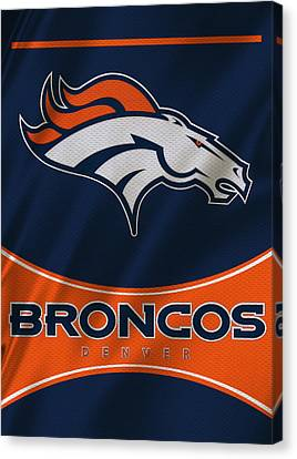 Denver Broncos Uniform Canvas Print by Joe Hamilton