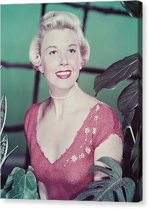 Doris Day Canvas Print by Silver Screen