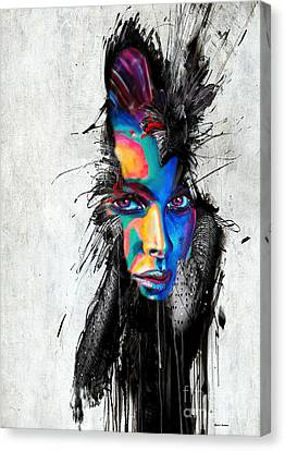 Canvas Print featuring the painting Facial Expressions by Rafael Salazar