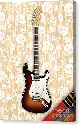 Guitar Canvas Print - Fender Stratocaster Collection by Marvin Blaine
