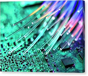 Fibre Optics Canvas Print by Tek Image