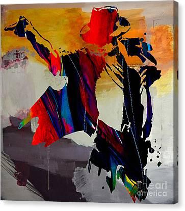 Michael Canvas Print - Michael Jackson by Marvin Blaine