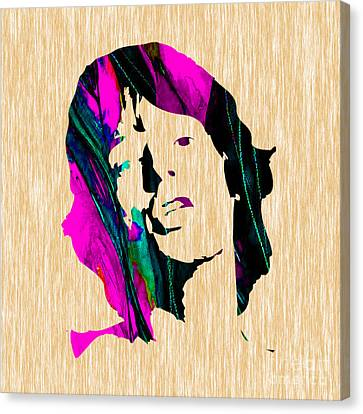 Mick Jagger Canvas Print by Marvin Blaine