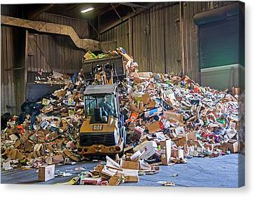 Cardboard Canvas Print - Recycling Plant by Jim West