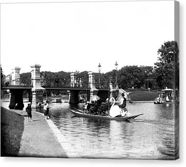 1900 Boston Swan Boats Canvas Print